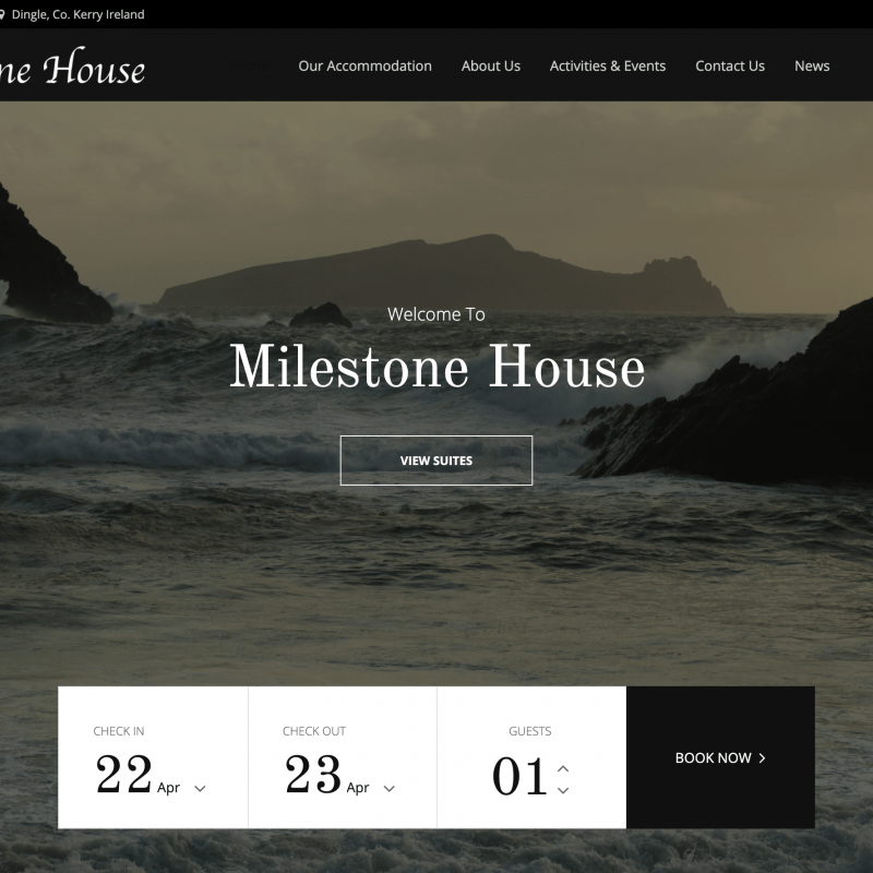 milestone house website after